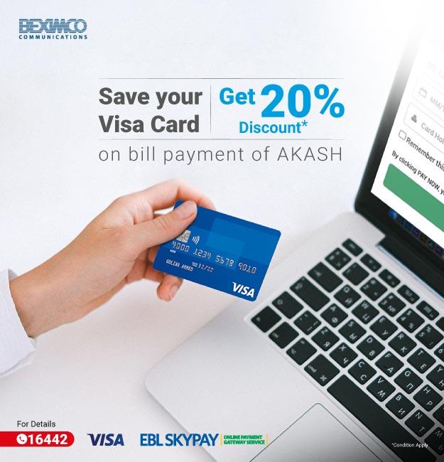Enjoy 20% Discount on Saving VISA Card
